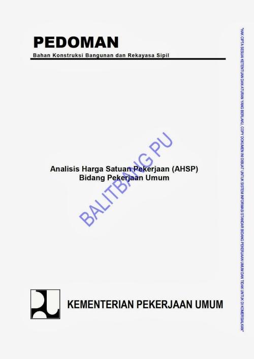E-book Analisa Harga Satuan Pekerjaan (AHSP) 2012