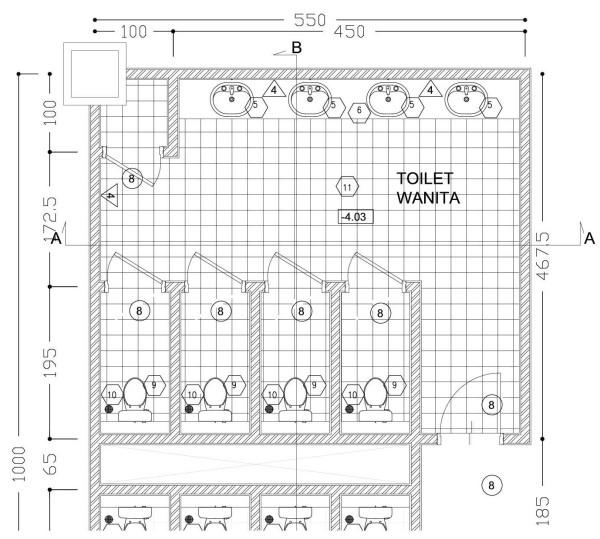 Denah Keramik Toilet - Forcon11