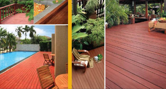 Contoh Penggunaan Conwood untuk Lantai, Bahkan untuk Pool Deck